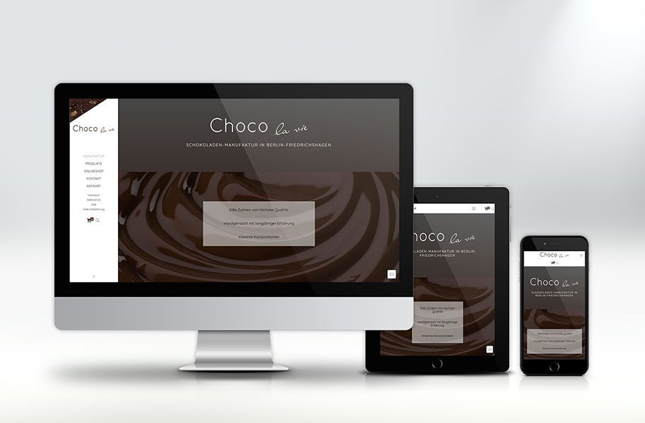Webdesign für Chocolavie