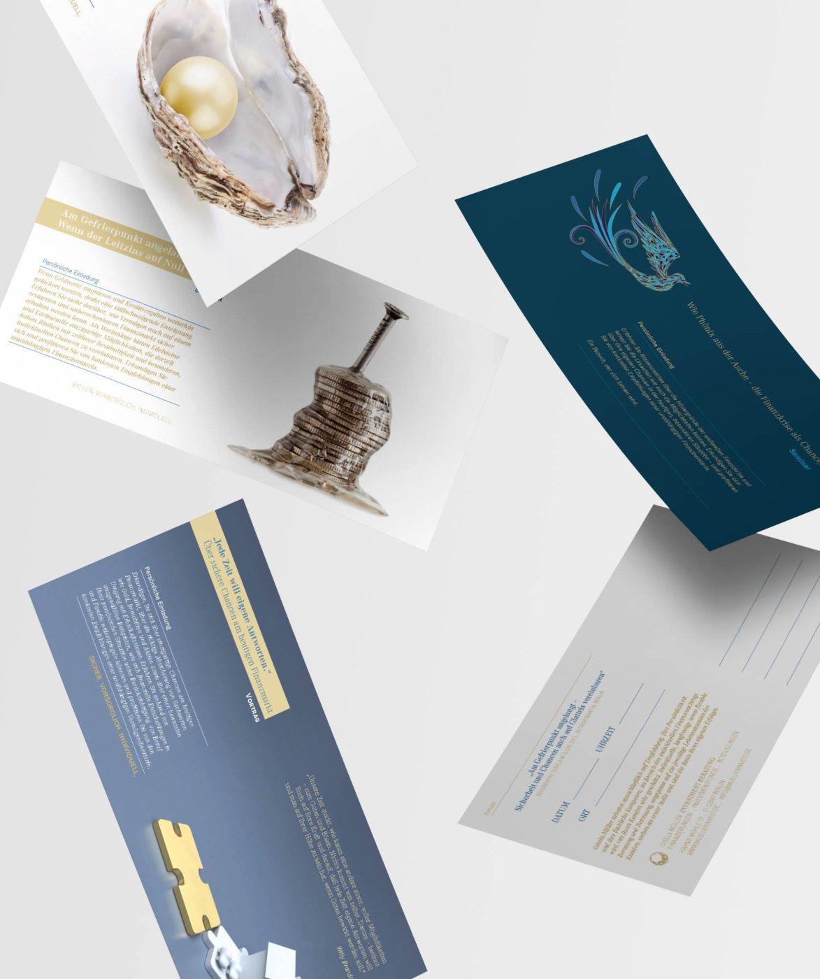 Einladungskarten Müller Invest