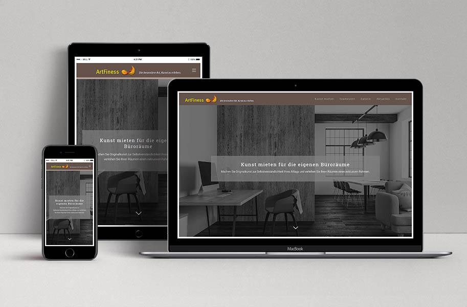 Webdesign für ArtFiness