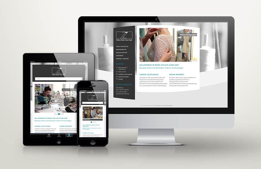 Webdesign für Ilona Zapf