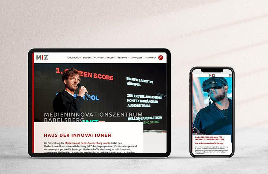 Webdesign Medieninnovationszentrum Babelsberg