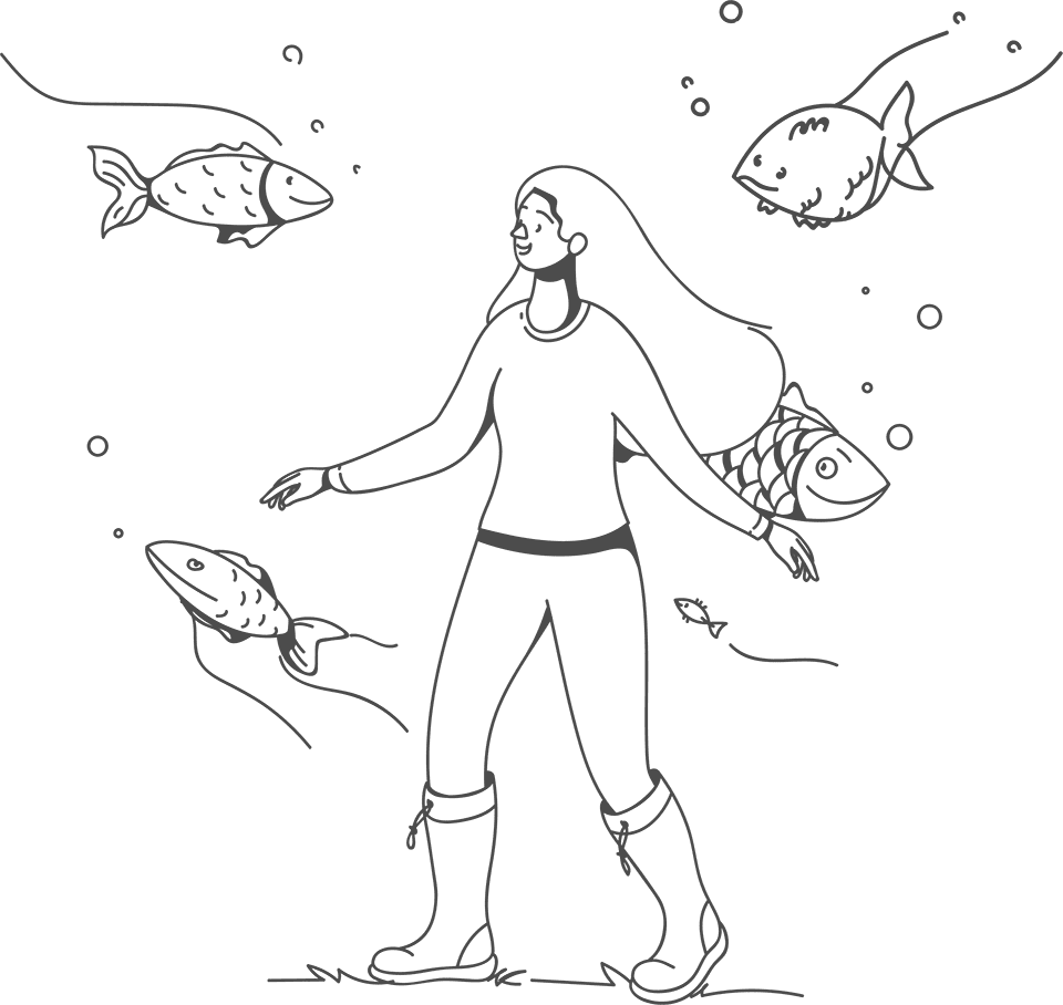 Girl With the fish_transparent_web
